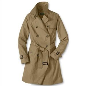 Eddie Bauer Classic Trench Button Coat in Saddle